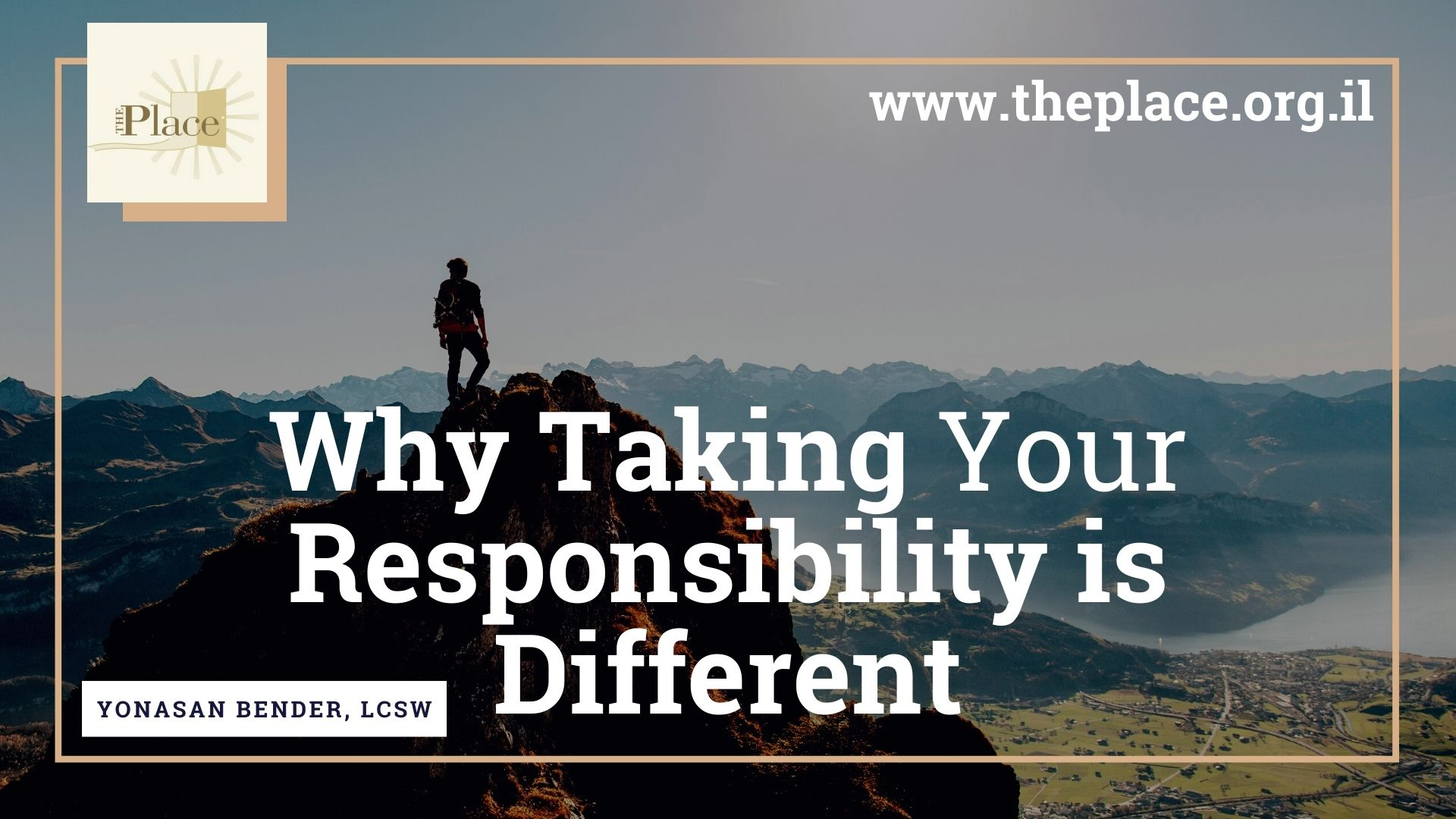 Why Taking Your Responsibility is Different